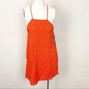 Lulus l Orange Handkerchief Dress